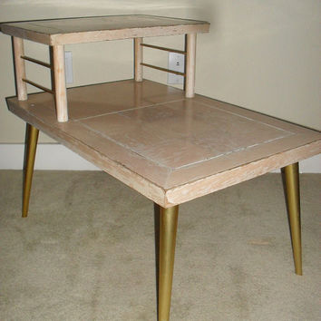 Retro Two Tiered Side Table from Lane manufactured in 1960s