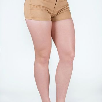 Athletic Chino Shorts in Khaki