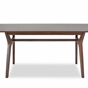 Birch Mid-Century Modern Dining Table Walnut