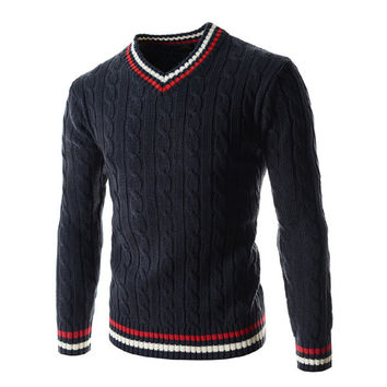 Mens Comfortable Trendy Pullover Sweater