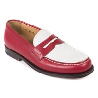 Church's Women's Red White Leather Bridget Loafers