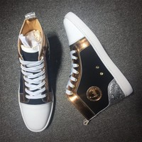 Christian Louboutin CL Suede Style #2223 Sneakers Fashion Shoes Best Deal Online