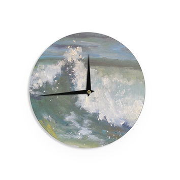 "Carol Schiff ""The Crest"" Nautical Painting Wall Clock"