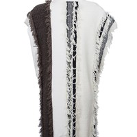 Sleeveless Colorblock Fringe Tunic