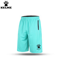 Kelme K15Z109 Men Loose Quick Drying Basketball Shorts Blue Black