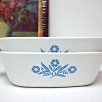 Corning Ware Petite Casserole Dishes Cornflower by ItchforKitsch