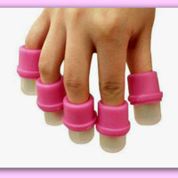 10 Pcs. Wearable Nail Soaker Acrylic Polish Remover Tool