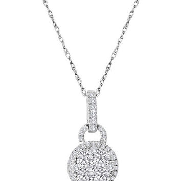 Levian 14 Kt. White Gold Diamond Pendant