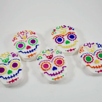 Sugar Skull Bath Bombs | Dia De Muertos Bath Bombs |Day Of The Dead Bath Bombs | Halloween Bath Bombs | The Sunflower Soapery | Bath Bombs