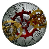 Grunge Steampunk Clocks and Gears