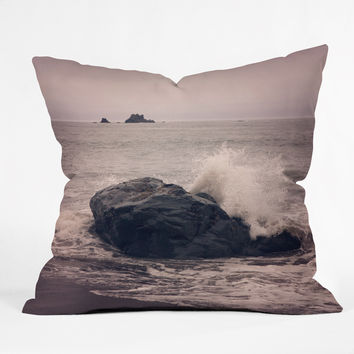 Catherine McDonald Northern California Beach Outdoor Throw Pillow