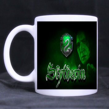 Harry potter slytherin symbol White Novelty Design Custom Coffee Mug Tea Cup gift customized
