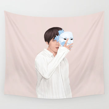 BTS Taehyung | Singularity Wall Tapestry by marylobs