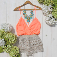 Caravan Romper in Peach