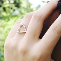 Elegant Adjustable Fashion Heart Shape Ring at Online Cheap Fashion Jewelry Store Gofavor