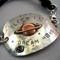 RECYCLED SPOON BRACELET Sleep Late Dream More  iNk by inkets