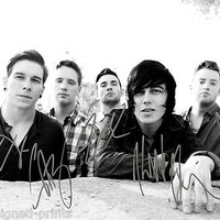 Sleeping With Sirens post hardcore band reprint signed photo #3 RP