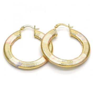 Gold Layered Medium Hoop, Golden Tone