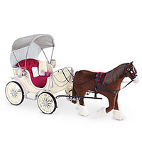American Girl® Accessories: Pretty City Carriage and Prancing Horse