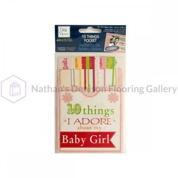 10 Things I Adore About My Baby Girl Journaling Pocket CG589