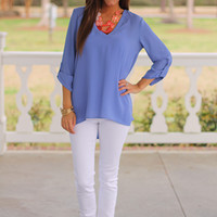 The Ava Blouse, Violet