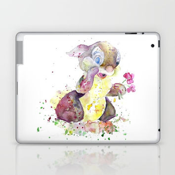 Thumper With Flowers Laptop & iPad Skin by MIKART