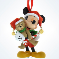 disney parks christmas mickey mouse santa and duffy bear ornament new with tag