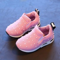 Girl's Breathable Pearl Sneakers
