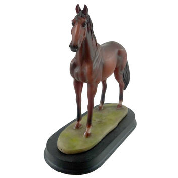 Animal HORSE REDDISH BROWN Resin Animals Figurine 11415
