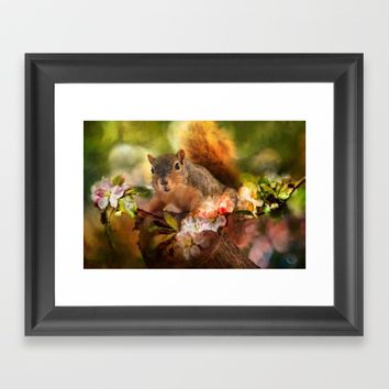 You Foxy Thing Framed Art Print by Theresa Campbell D'August Art
