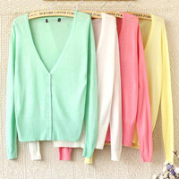 A 082901 bb Thin Long-Sleeved Sweater Thin Wild