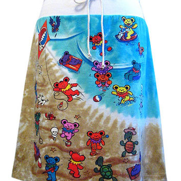 Grateful Dead Bears Beach Tie Dye T-Shirt Skirt