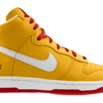 Nike Dunk High NFL Kansas City Chiefs iD Custom Men's Shoes - Gold