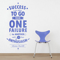 Motivational Quote Success - Office Decor Typography Inspirational Quote - Wall Decoration Art - Success Quote