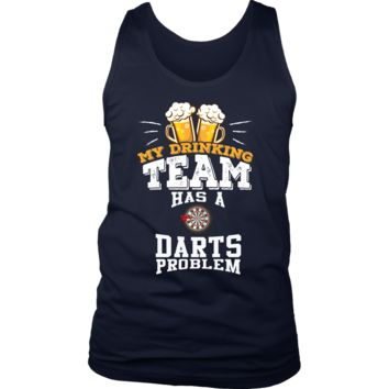 Men's My Drinking Team Has A Darts Problem Tank Top - Funny Gift