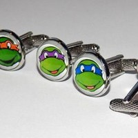 Teenage Mutant Ninja Turtle cufflinks jewelry Comic Superhero Cuff link movie