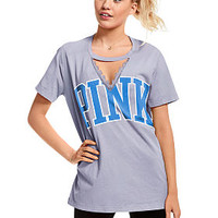 Cutout Campus Tee - PINK - Victoria's Secret