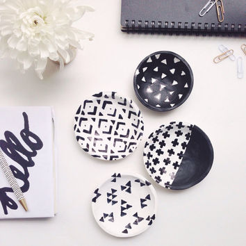 Black and White Jewelry Dish