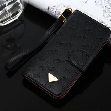 For iPhone 8 Fashion Luxury Designer Embossed Leather Flip Wallet Case for Apple iPhone 7 Plus 8plus With Wallet Credit Card Cover