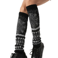 Crochet Knee High Knitted  Leg Warmer
