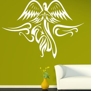 Vinyl Decal Angels and Saints Wall Sticker Very Beautiful Image Winged Angel Unique Gift (n404)