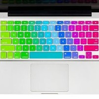 """Rainbow Keyboard Case Cover Silicone Skin Keyboard Protector for MacBook Air 11"""""""