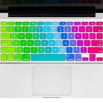 Rainbow Keyboard Case Cover Silicone Skin Keyboard Protector for MacBook Air 11""