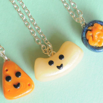 Best Friend Macaroni and Cheese Polymer Clay by PumpkinPyeBoutique