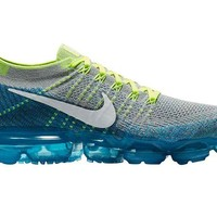 DCCK6H0 Nike Men's Air Vapormax Flyknit, Wolf Grey/White-Chlorine Blue, 10.5 M US