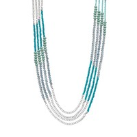 Simply Vera Vera Wang Bead Long Multistrand Necklace (Green)