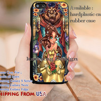 Belle Stained Glass iPhone 6s 6 6s+ 5c 5s Cases Samsung Galaxy s5 s6 Edge+ NOTE 5 4 3 #cartoon #disney #animated #BeautyAndTheBeast dl11
