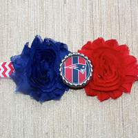 NFL New England Patriots inspired headband- perfect for football season! New England Patriots Baby Headband