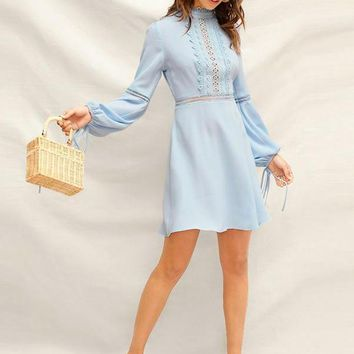 Paros Guipure Lace Dress