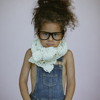Girl's Crochet Winter Scarf - Kid's Bow Scarf Long Baby Scarves Girl's Scarves Toddler Knitted Scarf Kids warm Scarf